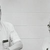 Charles Delaney (left), conductor of the Governor's School Symphony Orchestra, 1966.