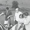 Launching a hot air balloon, 1966.
