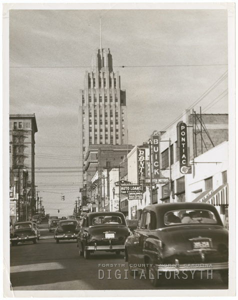 North Main Street, looking north in the 100 block, 1951.