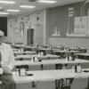 Robert B. Crawford Jr. at the Weeks Division cafeteria of Hanes Hosiery, 1965.