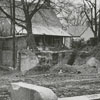 Remaining steps to Memorial Hall at Salem College, after the demolition of the building, 1965.