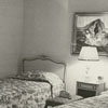 Interior view of the bedroom in the apartment at 115 Standish Court, 1964.