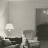 Interior view of the living room in the apartment at 115 Standish Court, 1964.
