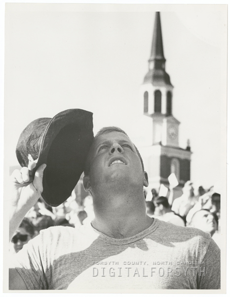 Sigma Chi Fraternity Derby Day celebration at Wake Forest College, 1964.