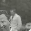 Unidentified man at the Tanglewood Steeplechase, 1964.