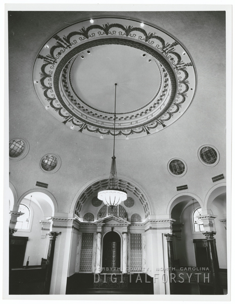 First Baptist Church after the restoration of its sanctuary, 1964.