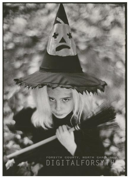 Susan Christian, in her Halloween costume, 1964.