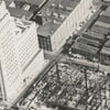Aerial view of the Wachovia Building under construction on Main Street, 1964.