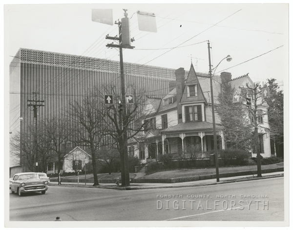 Henry Dalton Poindexter house on the corner of West Fifth and Spruce Streets, 1963.