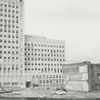 View from East Third Street, looking north, of the 300 block of North Main Street, 1963.