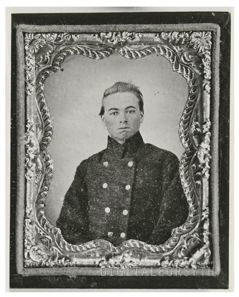Lieutenant George J. Huntley, a Civil War soldier, 1963.
