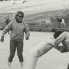 Ice skating on a lake in Lake Hills, 1963.