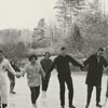 Ice skating on a lake in Lake Hills, 1963.