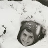 The Tussey children playing in the snow, 1962.