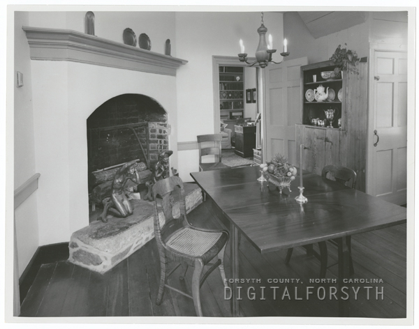 The Adam Butner House in Old Salem, 1962.