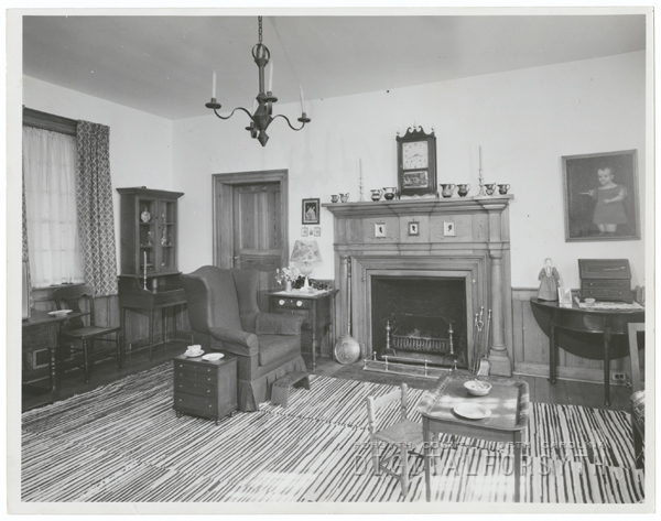 The Kuhln House in Old Salem, 1962.