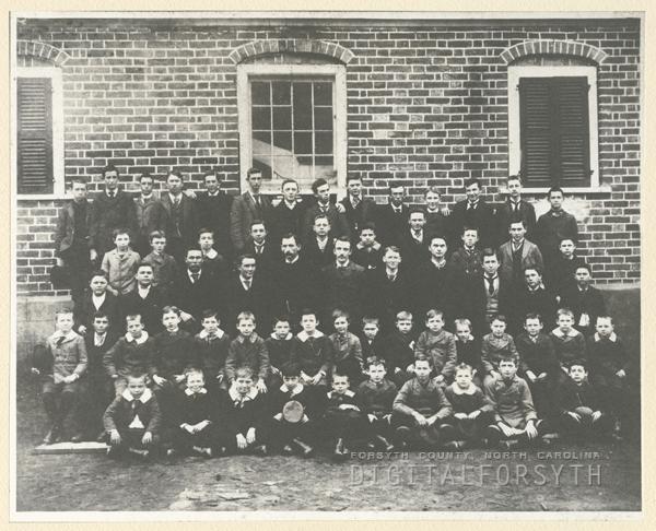 Salem Boys School teachers and students.