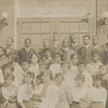 Dr. and Mrs. Simon Green Atkins and the 1915 Slater Industrial Academy student body.