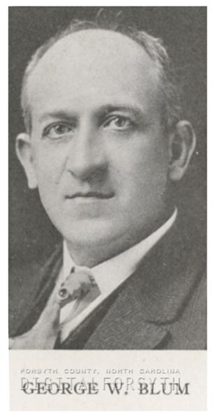 George W. Blum, 1918.