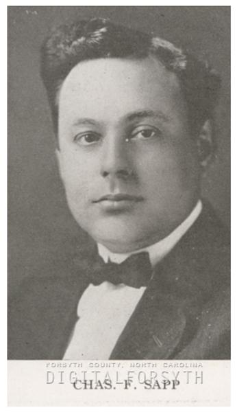 Charles F. Sapp, 1918.