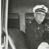 Fire chief M. G. Brown, 1955.