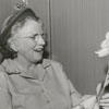 Mrs. John W. Moore and Mrs. Fred Bahnson at a flower show, 1951.