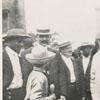 Thomas Edison (white coat) surrounded by Winston residents.