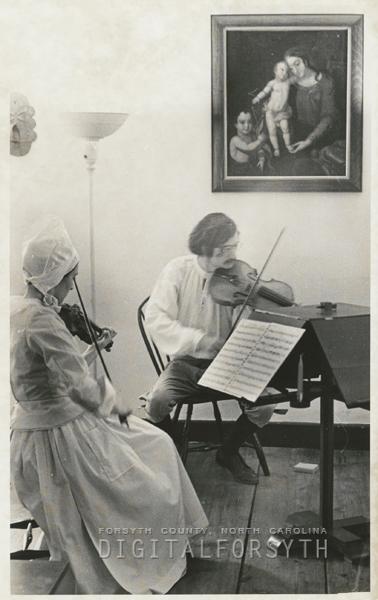 Moravian music concert in Old Salem, 1973.
