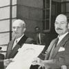 Forsyth County Centennial Celebration. Presentation of resolution for new Forsyth County seal, 1949.