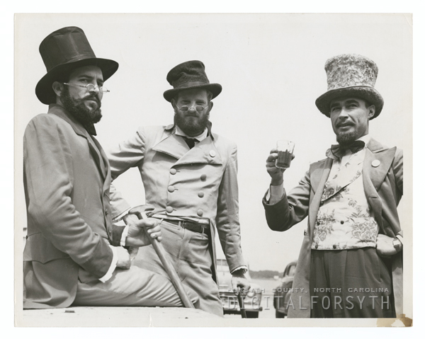 Forsyth County Centennial Celebration. Bushgrowers train excursion to Wrightsville Beach, 1949.