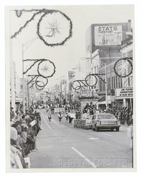 Winston-Salem Christmas Parade, 1970.