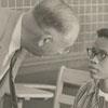 """R. J. Reynolds High School principal, Claude """"Pop"""" Joyner and Gwendolyn Bailey, 1957."""