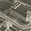 Aerial showing R. J. Reynolds High School and Reynolds Auditorium.