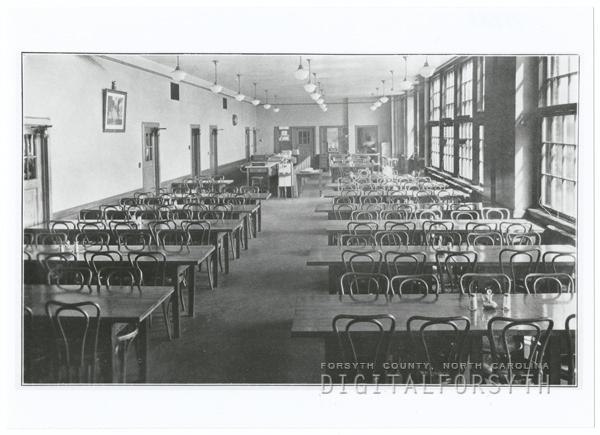 R. J. Reynolds High School cafeteria, 1932.