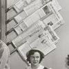 Pine Whispers (newspaper) office at R. J. Reynolds High School, 1949.