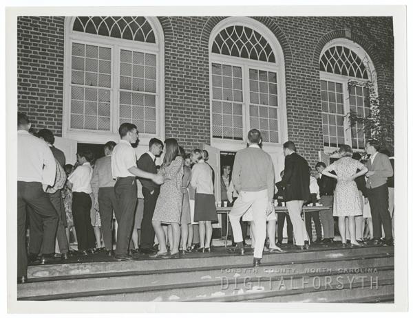 Dance in the R. J. Reynolds High School gymnasium.