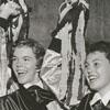 R. J. Reynolds High School cheerleaders, 1954.