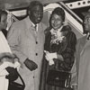 Jackie Robinson and Wife Arrive at Smith-Reynolds Airport