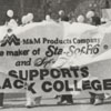 Black College Day Students Carry Banner in Washington, DC