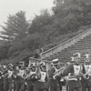 Marching Band Enters Bowman Gray Stadium
