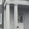 Students at Entrance to Blair Library - 1945