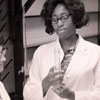 Betty McGriff in Science Lab