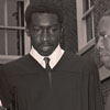 Basketball Player Earl Monroe with Mother and President Kenneth R. Williams at Graduation