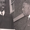 Basketball Star Earl Monroe and President Kenneth R. Williams