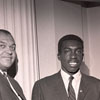 Coach Clarence E. Gaines and Earl Monroe